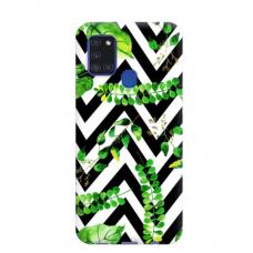 """TPU dėklas unikaliu dizainu 1.0 mm """"u-case Airskin Leaves 2 design"""" Samsung Galaxy A21S telefonui"""