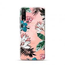 "TPU dėklas unikaliu dizainu 1.0 mm ""u-case Airskin Flowers 1 design"" Samsung Galaxy A70 telefonui"