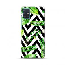 """TPU dėklas unikaliu dizainu 1.0 mm """"u-case Airskin Leaves 2 design"""" Samsung Galaxy A71 telefonui"""