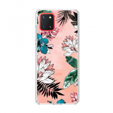 "TPU dėklas unikaliu dizainu 1.0 mm ""u-case Airskin Flowers 1 design"" Samsung Galaxy Note 10 Lite telefonui"