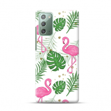 "TPU dėklas unikaliu dizainu 1.0 mm ""u-case Airskin Flamingos design"" Samsung Galaxy Note 20 telefonui"