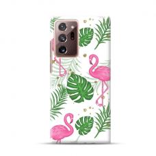 "TPU dėklas unikaliu dizainu 1.0 mm ""u-case Airskin Flamingos design"" Samsung Galaxy Note 20 Ultra telefonui"