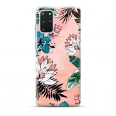 """TPU dėklas unikaliu dizainu 1.0 mm """"u-case Airskin Flowers 1 design"""" Samsung Galaxy S20 Plus telefonui"""