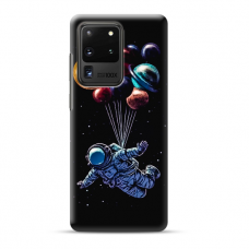 "TPU dėklas unikaliu dizainu 1.0 mm ""u-case Airskin Cosmo design"" Samsung Galaxy S20 Ultra telefonui"