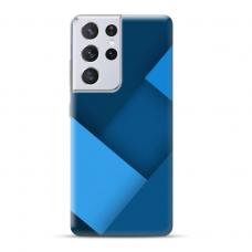 """TPU dėklas unikaliu dizainu 1.0 mm """"u-case Airskin Blue design"""" Samsung Galaxy S21 Ultra telefonui"""