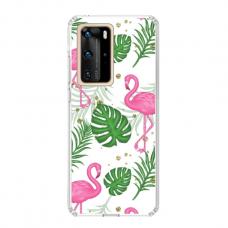 "TPU dėklas unikaliu dizainu 1.0 mm ""u-case Airskin Flamingos design"" Huawei P40 Pro telefonui"