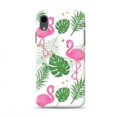 "TPU dėklas unikaliu dizainu 1.0 mm ""u-case Airskin Flamingos design"" Iphone Xr telefonui"