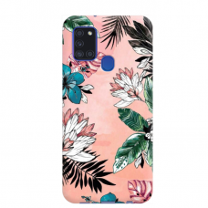"TPU dėklas unikaliu dizainu 1.0 mm ""u-case Airskin Flowers 1 design"" Samsung Galaxy A21S telefonui"