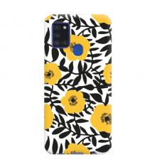 "TPU dėklas unikaliu dizainu 1.0 mm ""u-case Airskin Flowers 2 design"" Samsung Galaxy A21S telefonui"