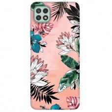 "TPU dėklas unikaliu dizainu 1.0 mm ""u-case Airskin Flowers 1 design"" Samsung Galaxy A22 5G telefonui"