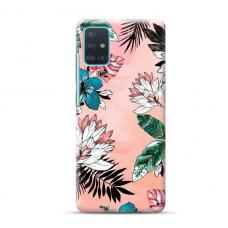 "TPU dėklas unikaliu dizainu 1.0 mm ""u-case Airskin Flowers 1 design"" Samsung Galaxy A51 telefonui"