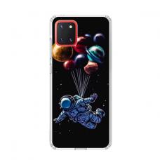 """TPU dėklas unikaliu dizainu 1.0 mm """"u-case Airskin Cosmo design"""" Samsung Galaxy Note 10 Lite telefonui"""