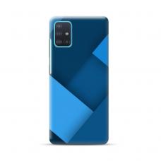 """TPU dėklas unikaliu dizainu 1.0 mm """"u-case Airskin Blue design"""" Samsung Galaxy A71 telefonui"""