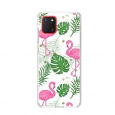 "TPU dėklas unikaliu dizainu 1.0 mm ""u-case Airskin Flamingos design"" Samsung Galaxy Note 10 Lite telefonui"