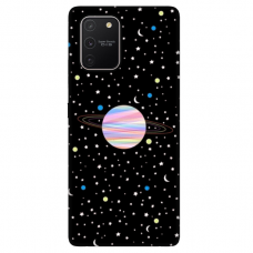 "Tpu Dėklas Unikaliu Dizainu 1.0 Mm ""U-Case Airskin Planet Design"" Samsung Galaxy S10 Lite Telefonui"