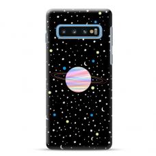 "Tpu Dėklas Unikaliu Dizainu 1.0 Mm ""U-Case Airskin Planet Design"" Samsung Galaxy S10 Telefonui"