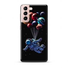 "TPU dėklas unikaliu dizainu 1.0 mm ""u-case Airskin Cosmo design"" Samsung Galaxy S21 telefonui"