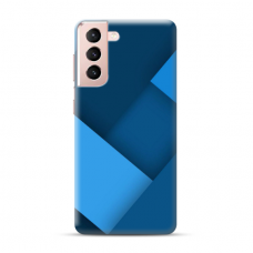 "TPU dėklas unikaliu dizainu 1.0 mm ""u-case Airskin Blue design"" Samsung Galaxy S21 telefonui"