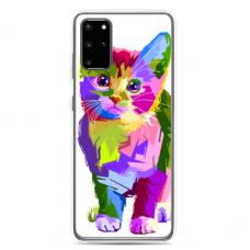 "Tpu Dėklas Unikaliu Dizainu 1.0 Mm ""U-Case Airskin Kitty Design"" Samsung Galaxy S20 Telefonui"