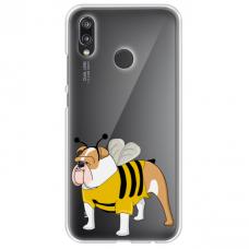 "Tpu Dėklas Unikaliu Dizainu 1.0 Mm ""U-Case Airskin Doggo 1 Design"" Huawei P20 Lite Telefonui"