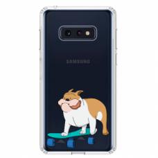 "Tpu Dėklas Unikaliu Dizainu 1.0 Mm ""U-Case Airskin Doggo 2 Design"" Samsung Galaxy S10E Telefonui"