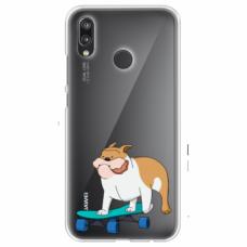 "Tpu Dėklas Unikaliu Dizainu 1.0 Mm ""U-Case Airskin Doggo 2 Design"" Huawei P Smart 2019 Telefonui"