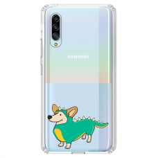 "Tpu Dėklas Unikaliu Dizainu 1.0 Mm ""U-Case Airskin Doggo 4 Design"" Samsung Galaxy A7 2018 Telefonui"