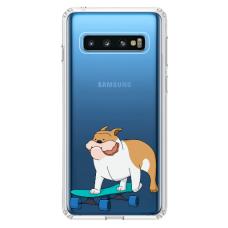 "Tpu Dėklas Unikaliu Dizainu 1.0 Mm ""U-Case Airskin Doggo 2 Design"" Samsung Galaxy S10 Telefonui"