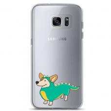 "Tpu Dėklas Unikaliu Dizainu 1.0 Mm ""U-Case Airskin Doggo 4 Design"" Samsung Galaxy S7 Edge Telefonui"