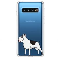 "Tpu Dėklas Unikaliu Dizainu 1.0 Mm ""U-Case Airskin Doggo 3 Design"" Samsung Galaxy S10 Telefonui"