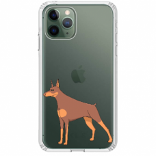 "Tpu Dėklas Unikaliu Dizainu 1.0 Mm ""U-Case Airskin Doggo 6 Design"" Iphone 11 Pro Telefonui"