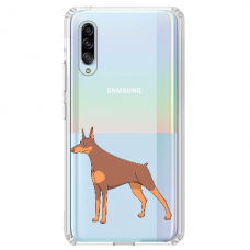 "Tpu Dėklas Unikaliu Dizainu 1.0 Mm ""U-Case Airskin Doggo 6 Design"" Samsung Galaxy A7 2018 Telefonui"