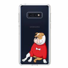 "Tpu Dėklas Unikaliu Dizainu 1.0 Mm ""U-Case Airskin Doggo 5 Design"" Samsung Galaxy S10E Telefonui"