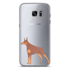 "Tpu Dėklas Unikaliu Dizainu 1.0 Mm ""U-Case Airskin Doggo 6 Design"" Samsung Galaxy A5 2017 Telefonui"