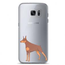 "Tpu Dėklas Unikaliu Dizainu 1.0 Mm ""U-Case Airskin Doggo 6 Design"" Samsung Galaxy S7 Edge Telefonui"