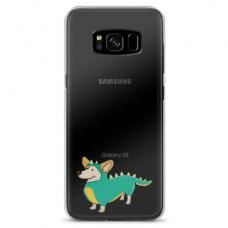 "Tpu Dėklas Unikaliu Dizainu 1.0 Mm ""U-Case Airskin Doggo 4 Design"" Samsung Galaxy S8 Telefonui"
