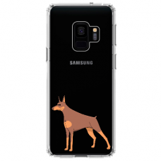 "Tpu Dėklas Unikaliu Dizainu 1.0 Mm ""U-Case Airskin Doggo 6 Design"" Samsung Galaxy A8 2018 Telefonui"