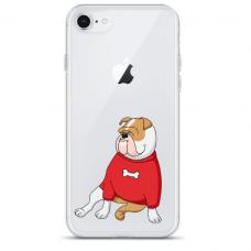 "Tpu Dėklas Unikaliu Dizainu 1.0 Mm ""U-Case Airskin Doggo 5 Design"" Iphone 6 / Iphone 6S Telefonui"