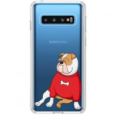 "Tpu Dėklas Unikaliu Dizainu 1.0 Mm ""U-Case Airskin Doggo 5 Design"" Samsung Galaxy S10 Telefonui"