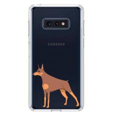 "Tpu Dėklas Unikaliu Dizainu 1.0 Mm ""U-Case Airskin Doggo 6 Design"" Samsung Galaxy S10E Telefonui"