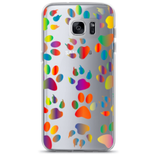 "Tpu Dėklas Unikaliu Dizainu 1.0 Mm ""U-Case Airskin Paw Design"" Samsung Galaxy S6 Edge Telefonui"
