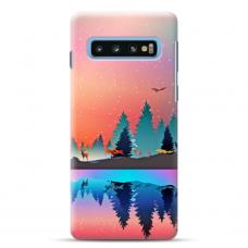 "Tpu Dėklas Unikaliu Dizainu 1.0 Mm ""U-Case Airskin Nature 5 Design"" Samsung Galaxy S10 Telefonui"