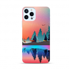 "TPU DĖKLAS UNIKALIU DIZAINU 1.0 mm ""U-CASE AIRSKIN NATURE 5 DESIGN"" IPHONE 12 PRO MAX TELEFONUI"