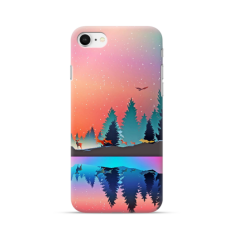 "TPU DĖKLAS UNIKALIU DIZAINU 1.0 mm ""U-CASE AIRSKIN NATURE 5 DESIGN"" IPHONE SE 2020 TELEFONUI"
