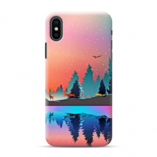 "TPU DĖKLAS UNIKALIU DIZAINU 1.0 mm ""U-CASE AIRSKIN NATURE 5 DESIGN"" IPHONE XR TELEFONUI"