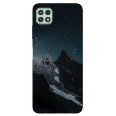 "TPU dėklas unikaliu dizainu 1.0 mm ""u-case Airskin Mountains 1 design"" Samsung Galaxy A22 5G telefonui"