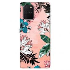"Tpu Dėklas Unikaliu Dizainu 1.0 Mm ""U-Case Airskin Flowers 1 Design"" Samsung Galaxy S10 Lite Telefonui"