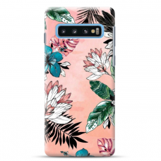 "Tpu Dėklas Unikaliu Dizainu 1.0 Mm ""U-Case Airskin Flowers 1 Design"" Samsung Galaxy S10 Telefonui"