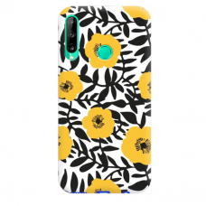"TPU dėklas unikaliu dizainu 1.0 mm ""u-case Airskin Flowers 2 design"" Huawei P40 Lite E telefonui"
