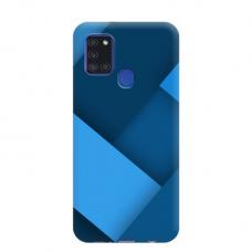 """TPU dėklas unikaliu dizainu 1.0 mm """"u-case Airskin Blue design"""" Samsung Galaxy A21S telefonui"""